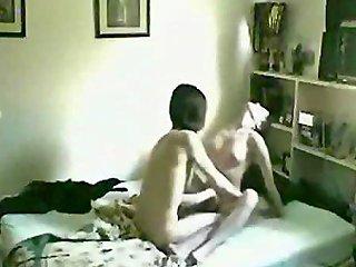 Amateur Goth Teen Couple